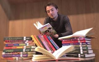 Christian Boer beim Lesen