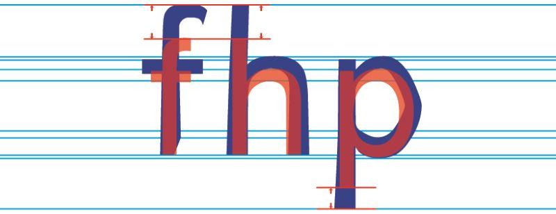 Ober- und Unterlänge von Buchstaben wird verlängert